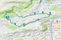 Prague Canyons segway tour map