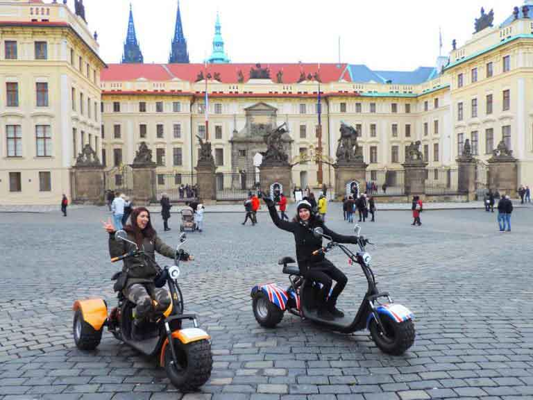 Trike rental on Prague Castle