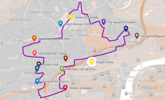Urban tour map